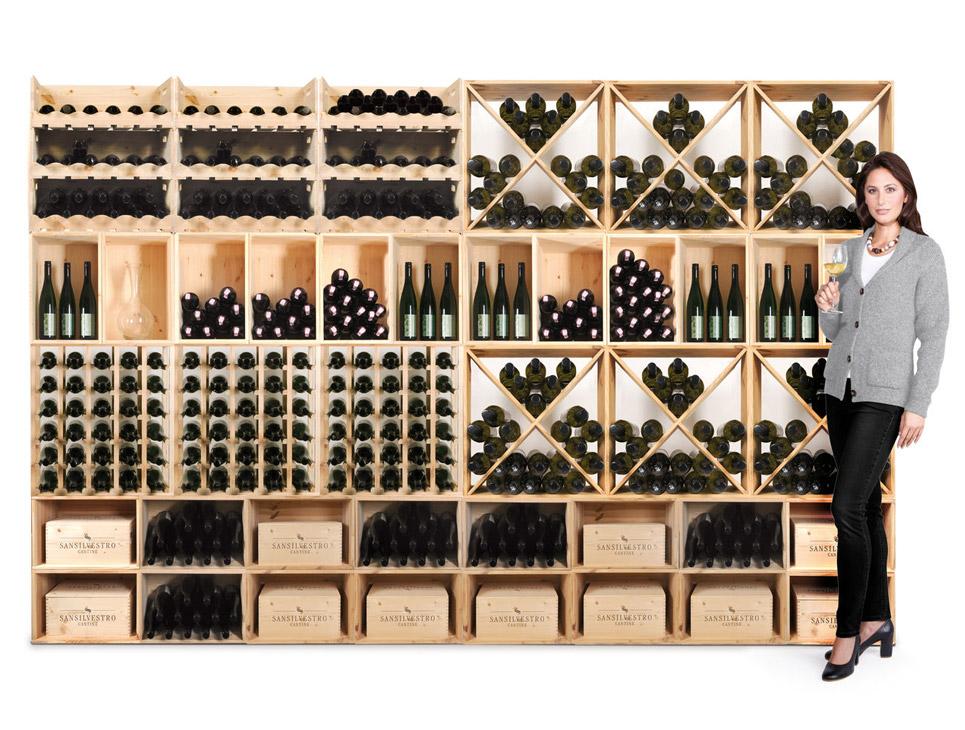 Cantina vino for Scaffali per vino ikea